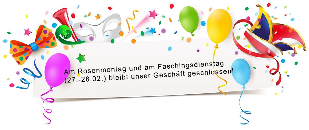 Banner mit Faschingsmotiven und Luftballons - Vorlage