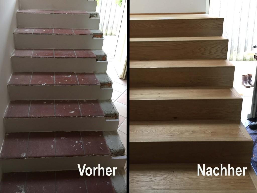 Treppenrenovierung Draufsicht