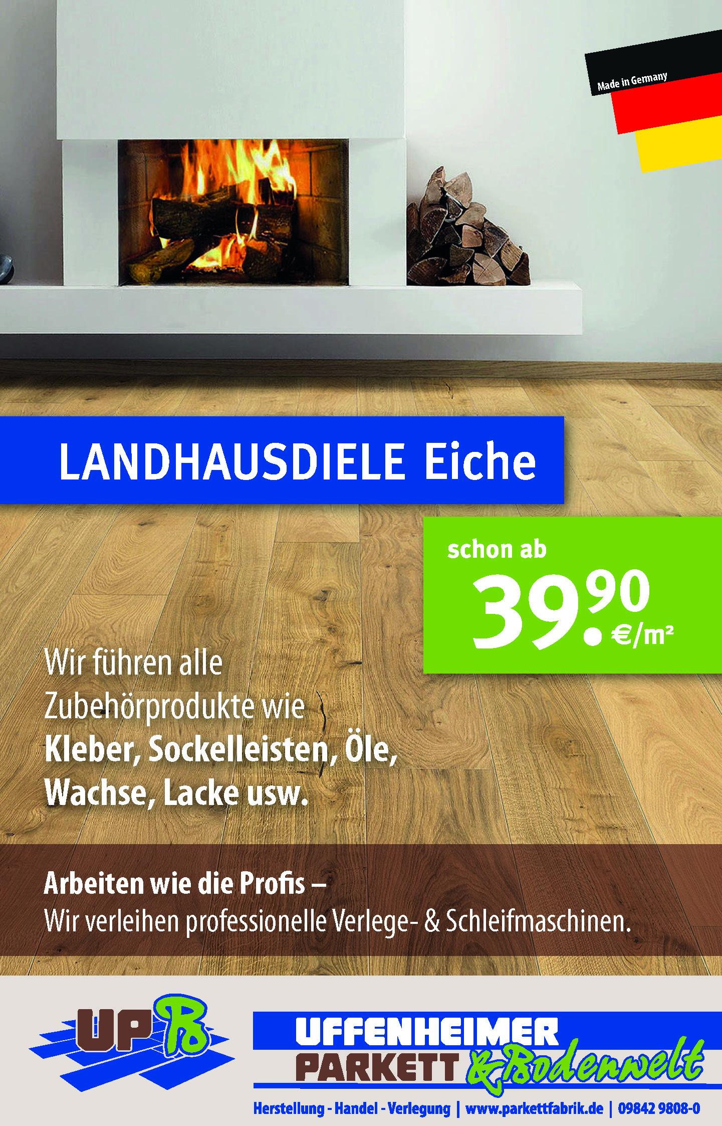 Landhausdiele Eiche zu 39,90 € inkl. MWST pro m²